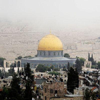 Al-Aqsan moskeija-alue Jerusalemissa.