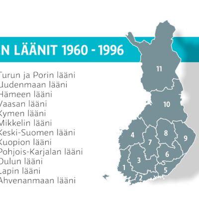 Suomen läänijako 1960-1996