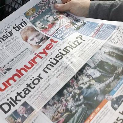Kuva turkkilaislehdestä.