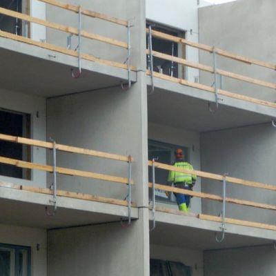 Rakennustyömaa Kokkolan Pikiruukissa heinäkuussa 2010