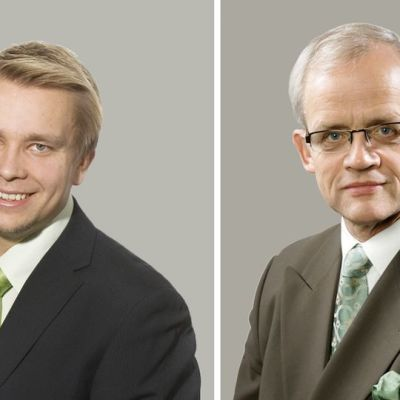 Antti Kaikkonen (vas.) ja Jukka Vihriälä (oik.).