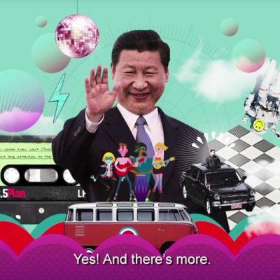 Kiinan valtion mainos Youtubessa.