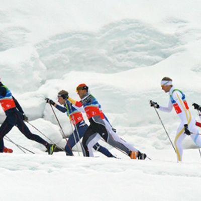Yleiskuvaa hiihdosta