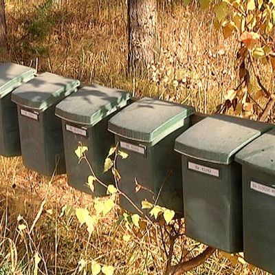 Hanhijärventien postilaatikoita