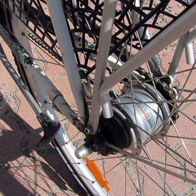 Polkupyörän takapyörä.