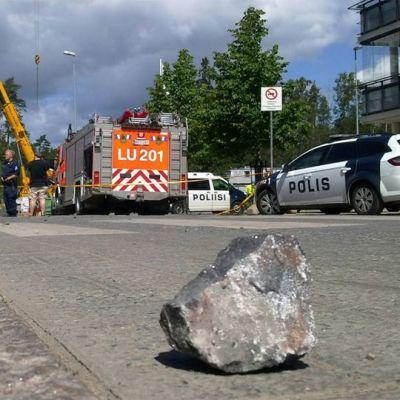 Site of explosion in Matinkylä.