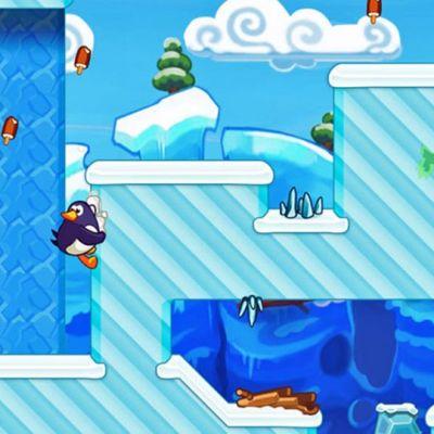 Kuva Hopping penguin -pelistä.