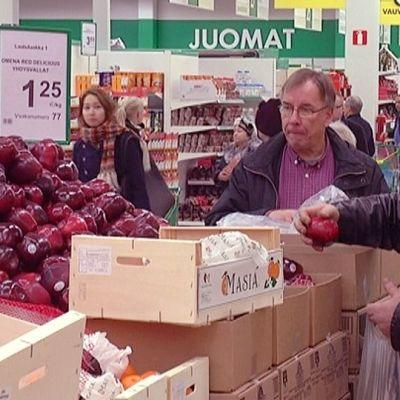 omenat menevät jouluna kivasti kaupaksi
