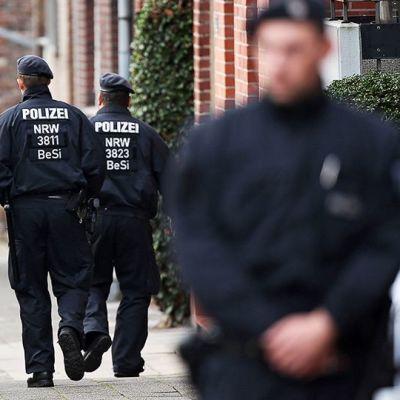 Terroriepäiltyjä on pidätetty eri puolilla Eurooppaa, kuva Alsdorfista, Saksasta.