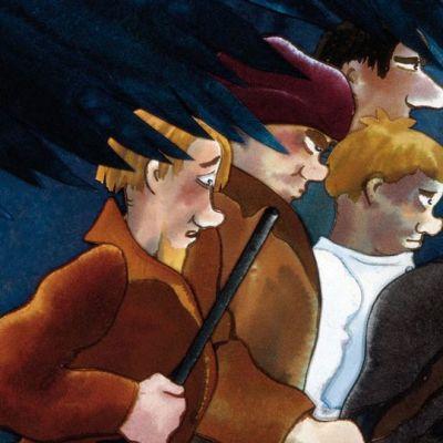 Akvarelli seitsemästä veljeksestä.