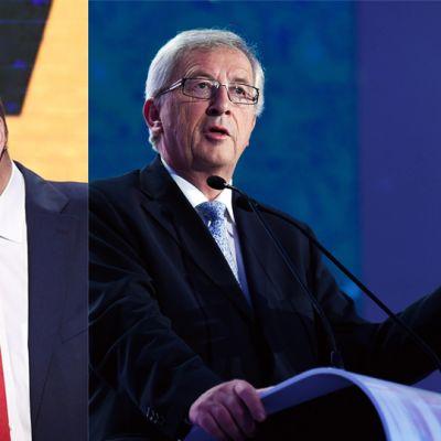 Martin Schulz ja Jean-Claude Juncker.