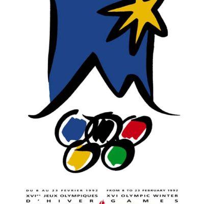Albertvillen talviolympialaisten juliste