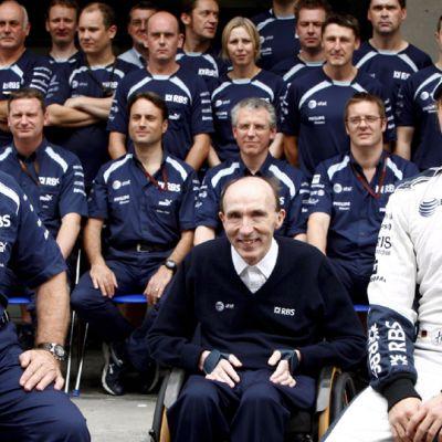 Patrick Head (vas.), Frank Williams ja Nico Rosberg.