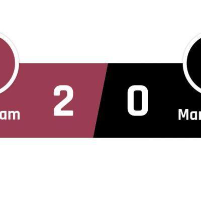 West Ham - Manchester United 2-0
