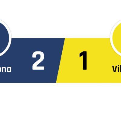 Barcelona - Villareal 2-1