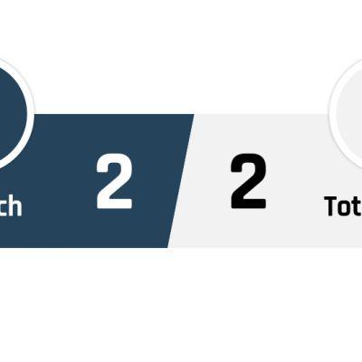 Norwich - Tottenham 2-2