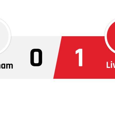 Tottenham - Liverpool 0-1