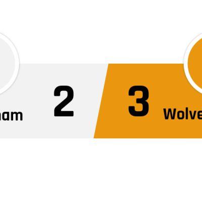 Tottenham - Wolverhampton 2-3