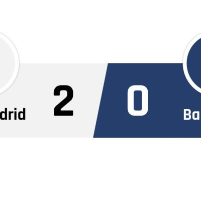 Real Madrid - Barcelona 2-0