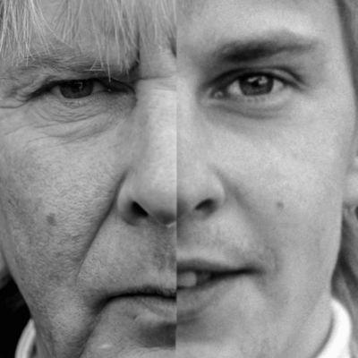 Matti Nykäsen kasvot nuorena ja aikuisena.