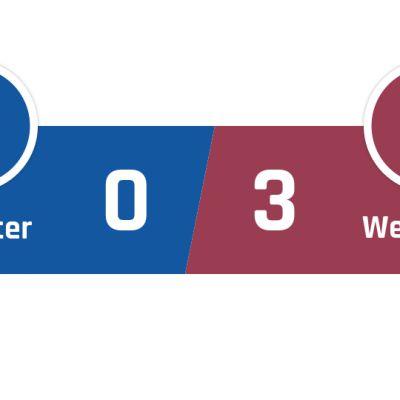 Leicester - West Ham 0-3