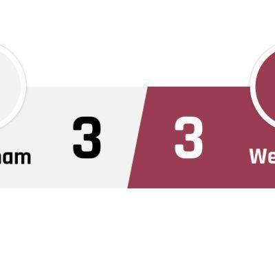 Tottenham - West Ham 3-3