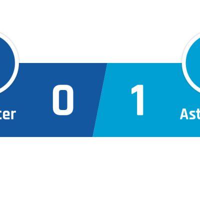 Leicester - Aston Villa 0-1