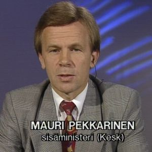 Mauri Pekkarinen Sana sanasta -ohjelmassa 1992