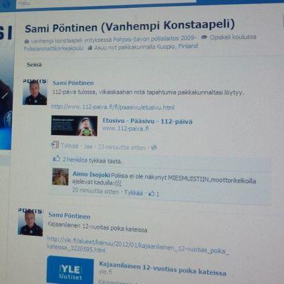 Pohjois-Savon nettipoliisin facebook-sivu.