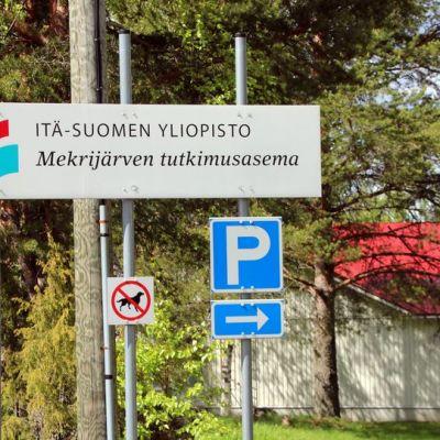Mekrijärven tutkimusasema Ilomantsissa.