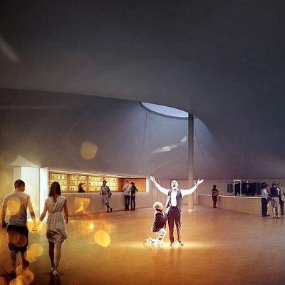 Havainnekuva Lappeenrannan tulevasta kaupunginteatterista.