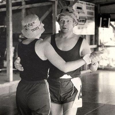 Humppamaratoniin osallistunut pari kilpailusuorituksessaan vuonna 1984.