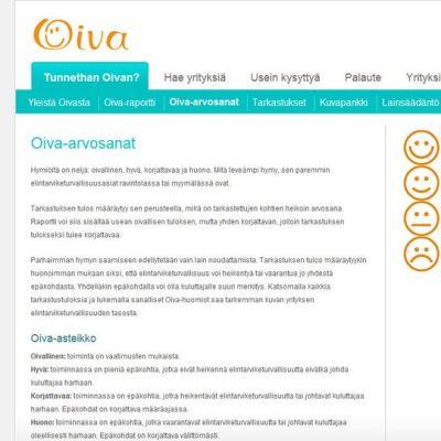 oivahymy.fi sivusto