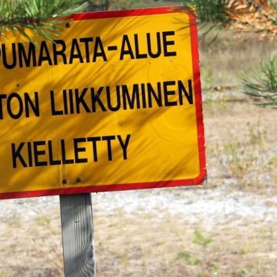 Ampumarata-alue Lappeenrannan Muukossa.