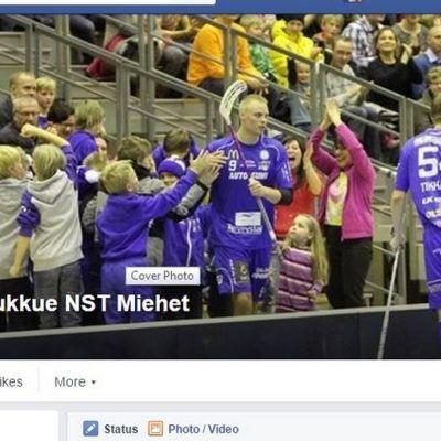 Kuvakaappaus NST miesten joukkueen Facebook-ryhmästä.