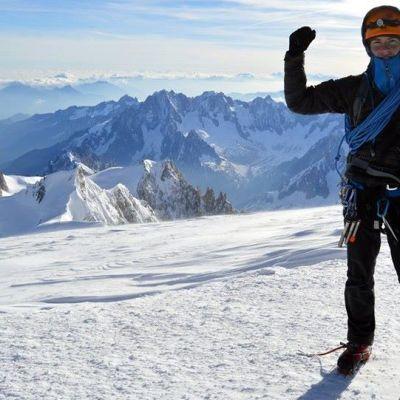 Imatralainen vuorikiipeilijä Juho Knuuttila Mont Blancilla kesäkuussa 2014.