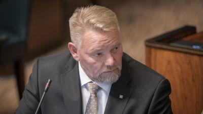 Jukka Mäkynen eduskunnassa 23.10.2019