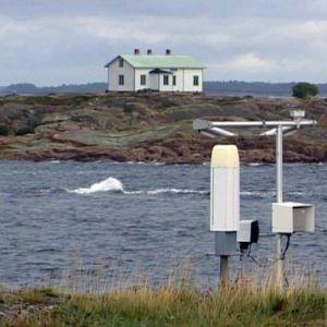 Merisääasema Nyhamnissa.