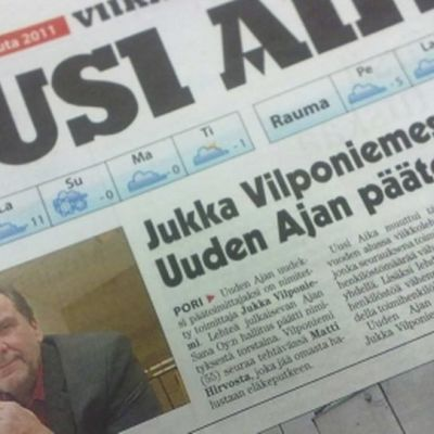 Uusi Aika -lehden päätoimittaja Jukka Vilponiemi.