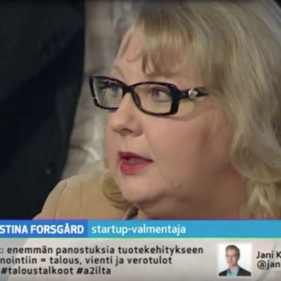 Christina Forsgård A2-illassa.