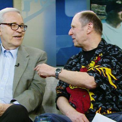 Aamu-tv:n vieraana Peter von Bagh ja Matti Halmeaho.
