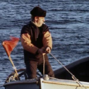 Kalastaja työn touhussa