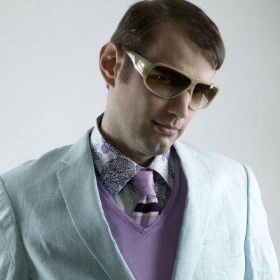 Matias Jungar agerar fotomodell för herrmode anno 2006