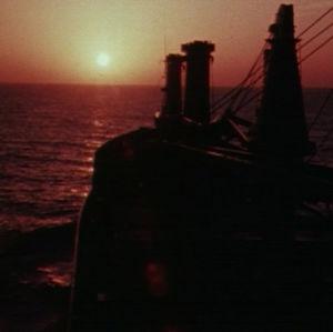 Auringon lasku Välimerellä.