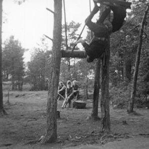 Lapset keinuu Haapasaaressa 1964
