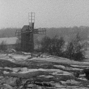 Tuulimylly Borstön kylässä vuonna 1969.