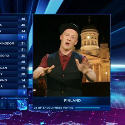 Redrama ilmoitti Suomen antamat pisteet lauantaisessa viisufinaalissa.
