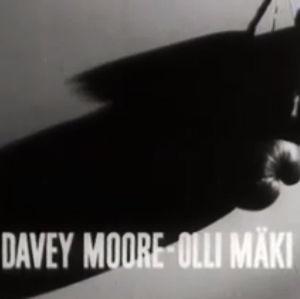 Elokuvagrafiikkaa Olli Mäen MM-ottelusta 1962.