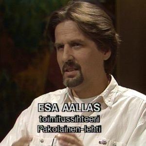 Esa Aallas Sana sanasta -ohjelmassa 1992