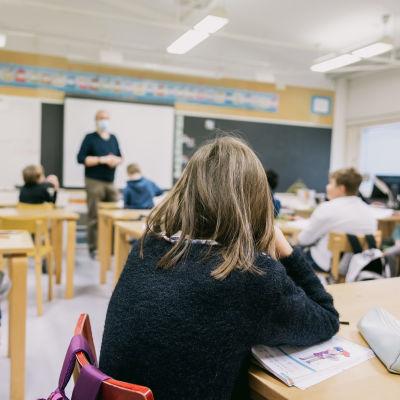 Elever i en skolklass.